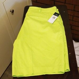 Womens shorts citrus yellow size 16